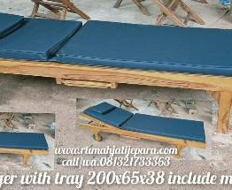 Lounger with tray 200x65x37